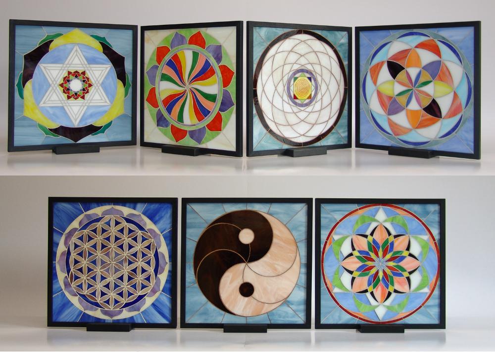 Mandala- mosaico- lampade