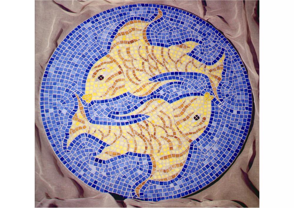 Pesci- mosaico-piano- tavolo