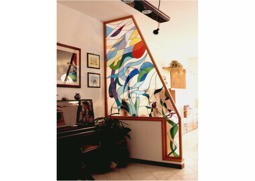 vetrata -separè-moderna-mosaico-astratta