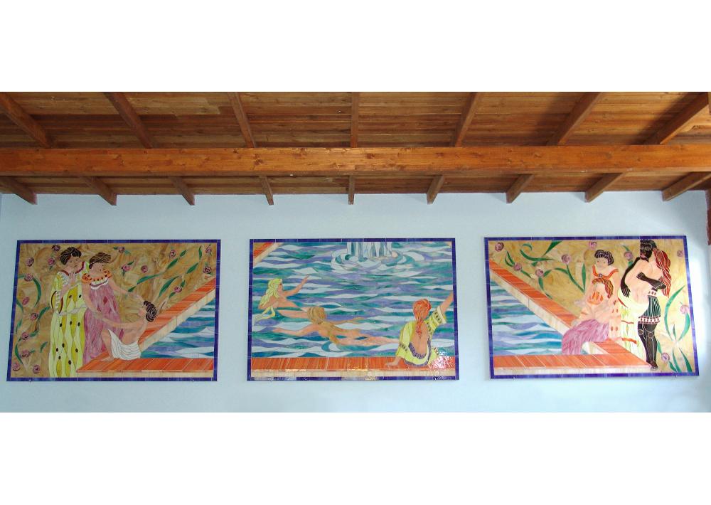 mosaico-piscina-bagni romani-donne