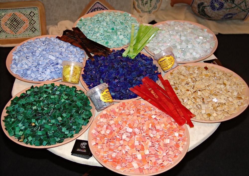 Tessere e barrette per mosaico