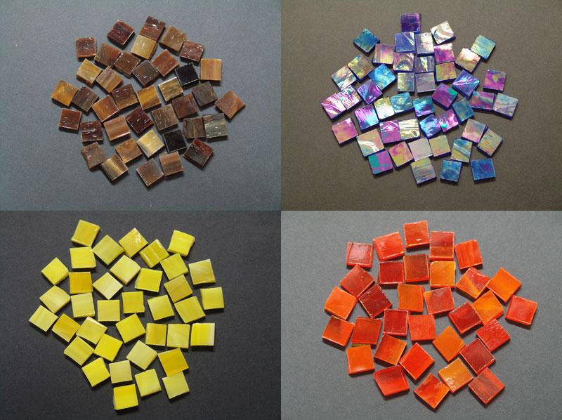 Tessere per mosaico di vetro pregiato colorato mosaici e vetri d