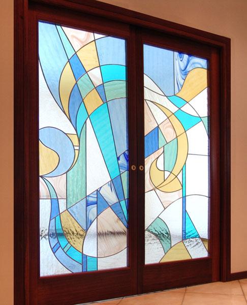 Porte Moderne Scorrevoli Nel Muro Mosaici E Vetri D 39 Arte Provenzano