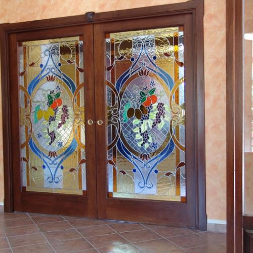 Vetrate in porte scorrevoli a scomparsa mosaici e vetri - Porte scorrevoli a vetri ...